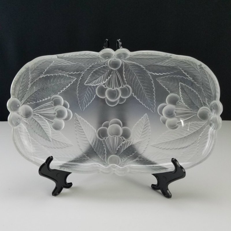 Hoya Japan Frosted Glass 3 Pcs Set Bowl, Divided Dish and Tray