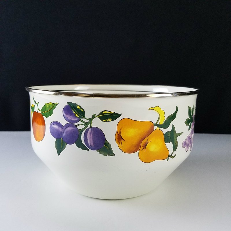 Tabletops Unlimited  Essence Enameled Fruits Nesting Mixing Bowls Set of 2