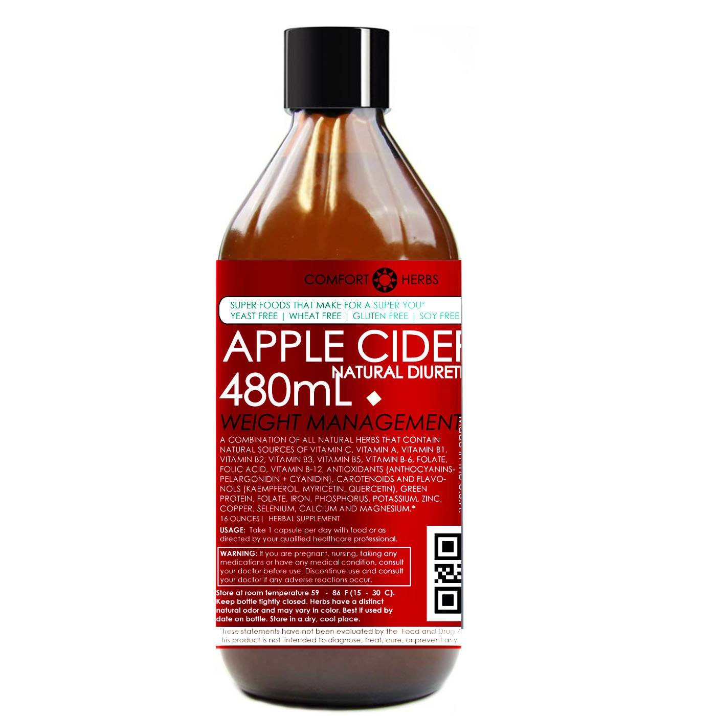Super Weight Loss Apple Cider Vinegar (ORGANIC) GMO-FREE