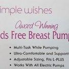 Simple Wishes Hands Free Breastpump Bra, Pink, L-Plus
