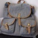 Mossimo Women's Distressed Stripe Print Backpack Handbag Gray