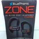 BluePhonic Zone Bluetooth v4.1 Wireless Sport Headphones w/ Case - White