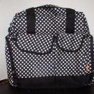 Heine Essential Diaper Tote Backpack Shoulder Bag Black & White Polka Dot