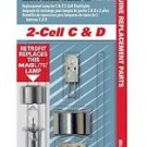 Genuine Maglite Replacement Lamp for 2-Cell C & D Flashlight, 1 pk Xenon