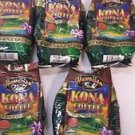 5 Pack Kona Hawaiian Gold Kona Coffee 10 oz