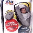 Jolly Jumper Arctic Sneak-A-Peek Infant CarSeat Cover - Black
