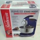Used Sunbeam FPSBSM210B Heritage Series 350-Watt Stand Mixer - Indigo Blue