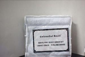 Colourful Snail 400-Thread-Count 100-Percent Cotton Duvet Cover Set