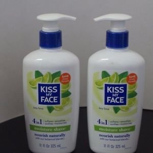 2 Pack Kiss My Face Moisture Shave Key Lime 11 OZ Each