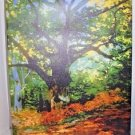 "Claude Monet - Bodmer Oak at Fountainbleau Forest Wrapped Canvas - 18"" x 24"""