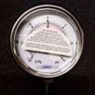"""WIKA 9694549 Industrial Pressure Gauge 30""""Hg-0-15 psi"""