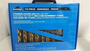 Tuf-E-Nuf 09260 170-Piece Titanium-Coated HSS Drill Bit Set with Case