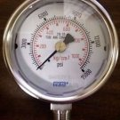 "WIKA 9694760 Industrial Pressure Gauge 2-1/2"" Range - 0-15000 psi"