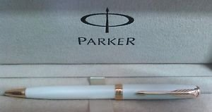Used PARKER Sonnet Pearl Lacquer, Ballpoint Pen with Medium Black Ink - S0947390