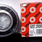 FAG 6207-2RSR-C3 Ball Bearing Single Row Double Sealed Steel 6300 RPM