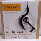 Parasom P6 V4.1 Earhook Bluetooth Earbuds Lightweight Headset with Mic - Green