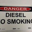 "Master Lock S12351 14""  x 10"" ""Diesel No Smoking"""