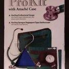 Veridian 02-12603 Adjustable Aneroid Sphygmomanometer Stethoscope Kit Adult Blue