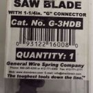 """General Wire 3"""" Heavy Duty Saw Blade with 1-1/4in G Connector for Pipe Clearing"""