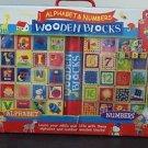 T.S. Shure Cutesie Alphabet & Numbers 50 Wooden Blocks with Storage Bag