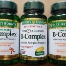 (3 Pack) Nature's Bounty Vitamin B Complex with Folic Acid Plus Vit C, 125 ct.