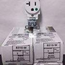 4 Pack of Leviton 8310-W 20 Amp 125 Volt Hospital Grade Self Grounding - White
