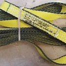 Mazzella EE1 Edgeguard Nylon Web Sling, Eye-and-Eye, Yellow