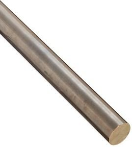 "655 Bronze Round Rod, Unpolished (Mill) Finish, H04, ASTM B98, 0.5"" Dia, 12"""