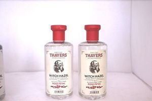 2 Pack Thayers Alcohol-Free Rose Petal Witch Hazel with Aloe Vera 12 oz Each