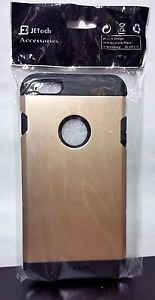 JETech Slim Armor Protective for Apple iPhone 6 Plus Logo Cut-Out - Gold