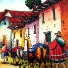 Cuzco Chincheros Glass Painting Lamas Llamas Peru