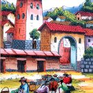 Cuzco Chincheros Glass Painting Andean Market Peru