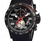 Morphic M4 Series Men's Chronograph Silicone Strap Watch, Black, Standard