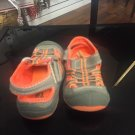 Oshkosh Boys Size 7 Gray And Orange Sandals