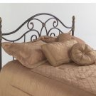 Fashion Bed Group B95N55 Dynasty Headboard with Arched Metal Grill and Scallo...