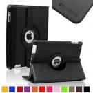 SAVEICON Black PU Leather Case Smart Cover 360 Rotating Stand For The Apple 2 /