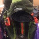 New JanSport Katahoin 40 Backpack Black & Green W/ Orange Accents