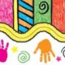 Handprints and Kids? Art Scalloped Borders