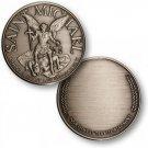 Saint Michael - Engravable Nickel Antique