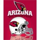Northwest Arizona Cardinals Light Weight Fleece NFL Blanket (Grid Iron)