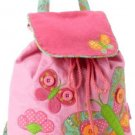 Stephen Joseph Little Girls' Signature Collection Quilted Backpack, Butterfly,