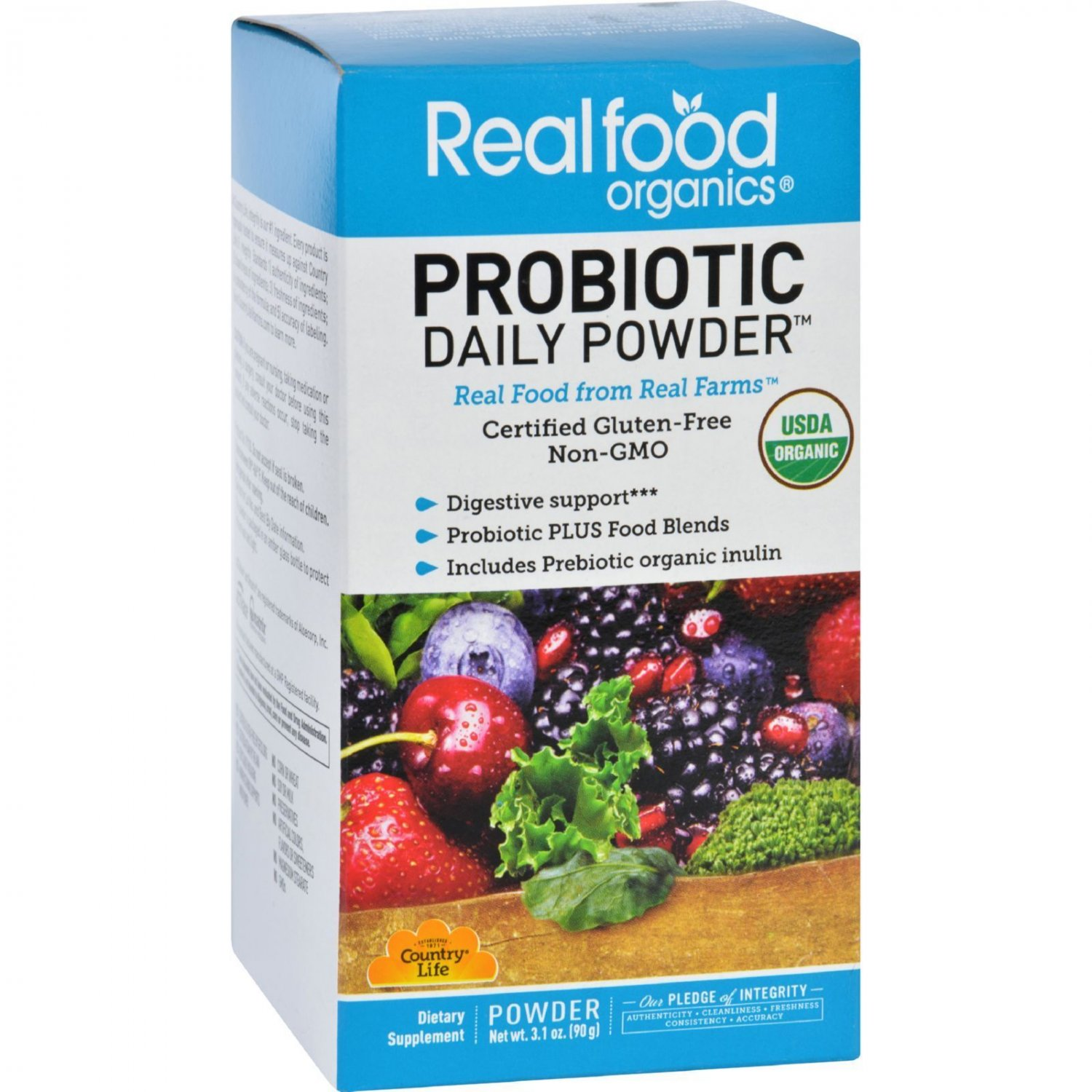 Realfood Organics Probiotic Daily Powder - Organic - 3.1 oz