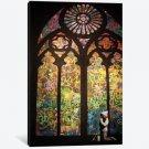 Stained Glass Window Graffiti Banksy Canvas print #2165 26x40