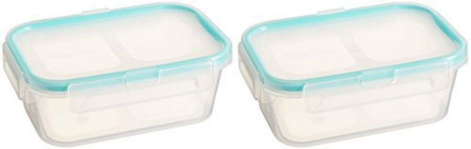 Snapware 2-Pack Airtight 2-Cup Rectangle Containers, Plastic