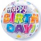 Happy Birthday! Stars Streamers 22 Bubble Balloon
