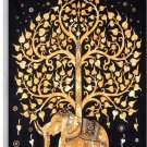 Handicrunch Elephant Under Tree Tapestry, Indian Hippie Wall Hanging / Dorm New