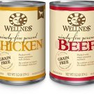 Wellness 95-Percent Grain Free Natural Wet Dog Food, Best Sellers Variety Pack,