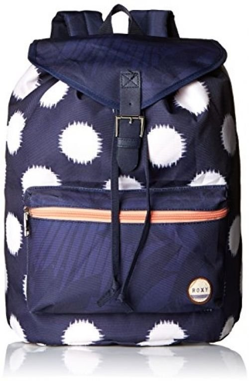 Roxy Junior's Driftwood Polyester Backpack, Ikat Dots Combo Peacoat, One Size