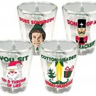 ICUP Elf The Movie Shotglass (4 Pack), Clear