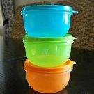 Tupperware Ideal Little Kids Bowl Set 3 Fruit New Color